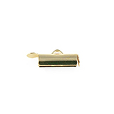 Slide End Tube 9mm goud seed beed ending tubes