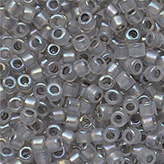 MIYUKI Delica Seed Beads DB1770 11/0 Round - Sparkling Pewter Lined Opal AB DB-1770