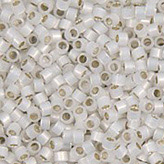 MIYUKI Delica Seed Beads DB221 11/0 Round - Lined White Opal DB-221