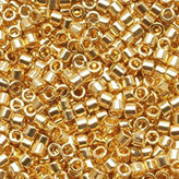 MIYUKI Delica Seed Beads DB031 11/0 Round - 24K gold Plated DB-31