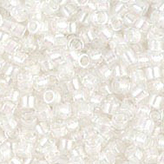 MIYUKI Delica Seed Beads DB1701 11/0 Round - Pearl Lined Transparent Pale Beige AB DB-1701