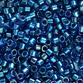 MIYUKI Delica Seed Beads DB1763 11/0 Round -  Emerald Lined Cobalt AB DB-1763