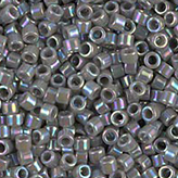 MIYUKI Delica Seed Beads DB168 11/0 Round - Opaque Gray AB DB-168