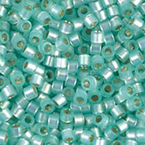 MIYUKI Delica Seed Beads DB626 11/0 Round -Silverlined Lt Mint Green Dyed Alabaster DB626