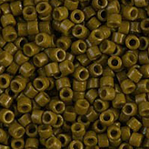 MIYUKI Delica Seed Beads DB2141 11/0 Round - Duracoat Dyed Opaque Spanish Olive DB-2141