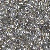 MIYUKI Delica Seed Beads DB0114 11/0 Round - Transparent Silver Gray L DB-114