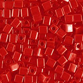 Miyuki Square Beads 4mm Opaque Red SB-407