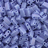 MIYUKI Half Tila Beads HTL417L/FR Opaque Periwinkle Matted AB - HTL417L/FR