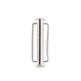 The Beadsmith Schuifslot slide bar 31.5 mm zilver