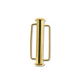 The Beadsmith Schuifslot slide bar 26.5 mm goud