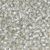 Toho Round Seed Beads #PF21F 11/0 silver-lined Frosted Crystal TR-11-PF21F